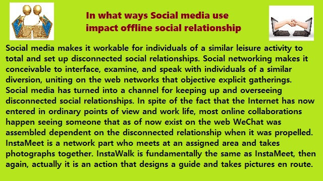 Social Media and Social Relationship