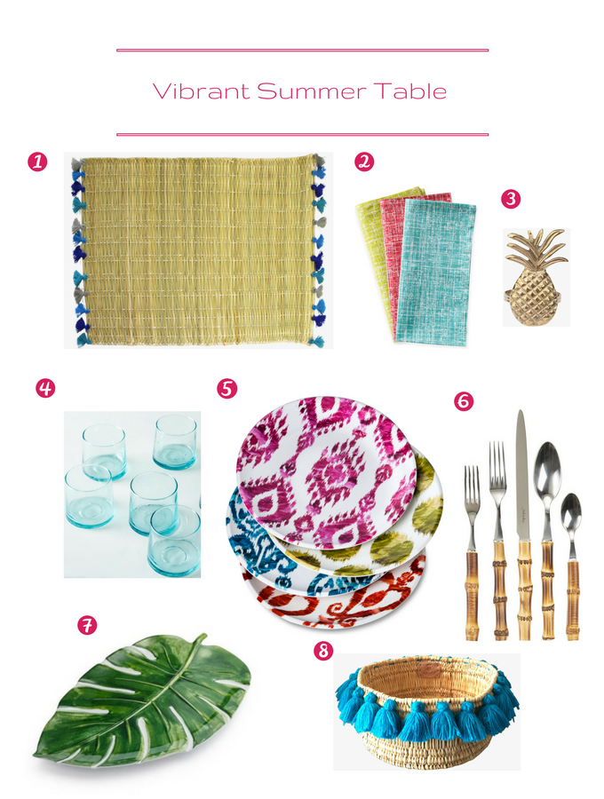 Vibrant Summer Table Setting | circleofeaters.com