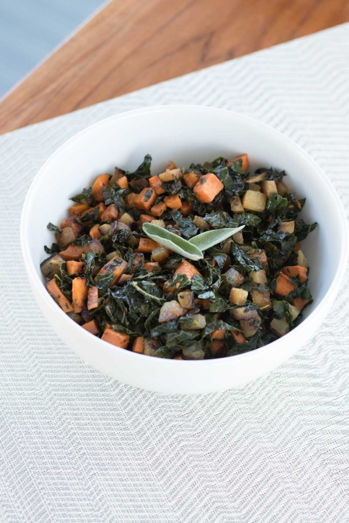 Fall Veggie Hash - Full of yams, kale and kohlrabi.