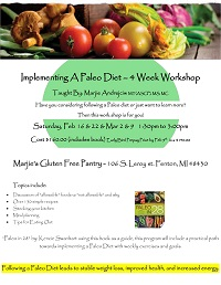 Implementing A Paleo Diet – 4 Week Workshop
