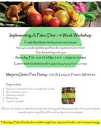 Implementing A Paleo Diet – 4 Week Workshop