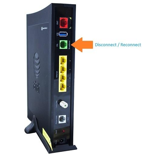 Uverse broadband light flashing red