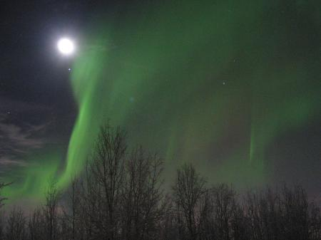 Aurora and Moon
