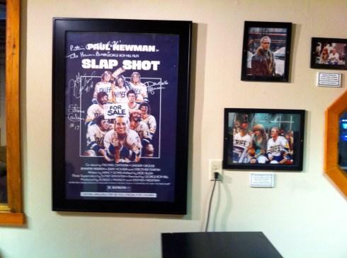 """Inside the """"Slap Shot Room"""""""