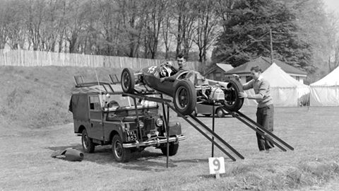 Land Rover Race Car Carrier