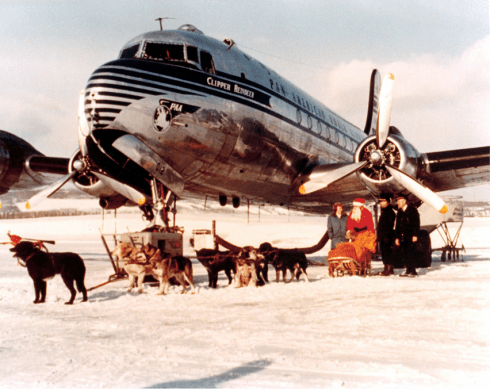 PanAm DC4 in Fairbanks Dec 1946