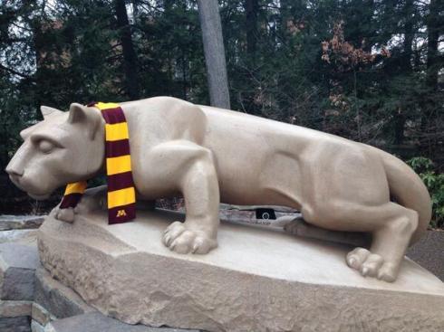 PSU Lion Going Gopher