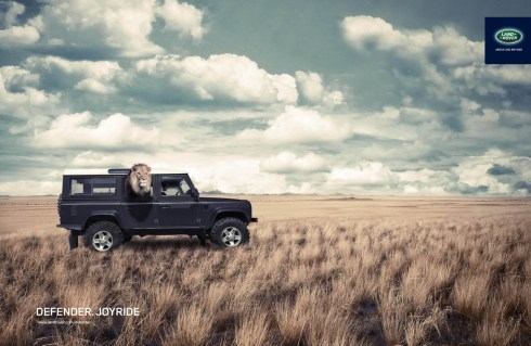 Land Rover Defender advert