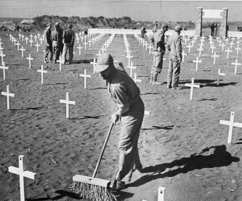 Graves of the 5th Division Marines