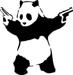 Panda gunfighter