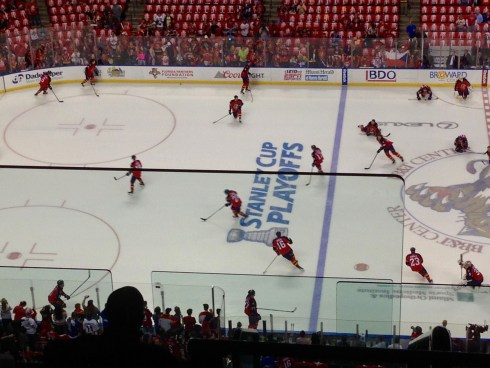 Panthers warm up