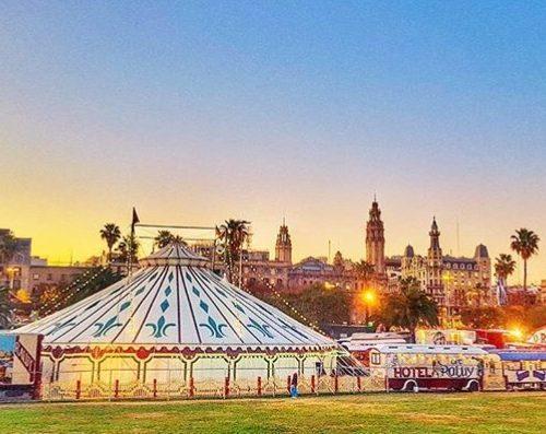 Carpa del Circo Raluy en Barcelona