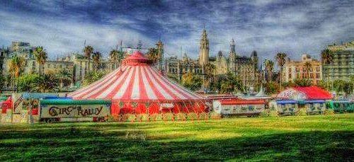 La carpa del Circo Raluy artística
