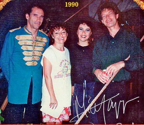 VIPS en el Circo Raluy. Mick Jagger de los Rolling Stones
