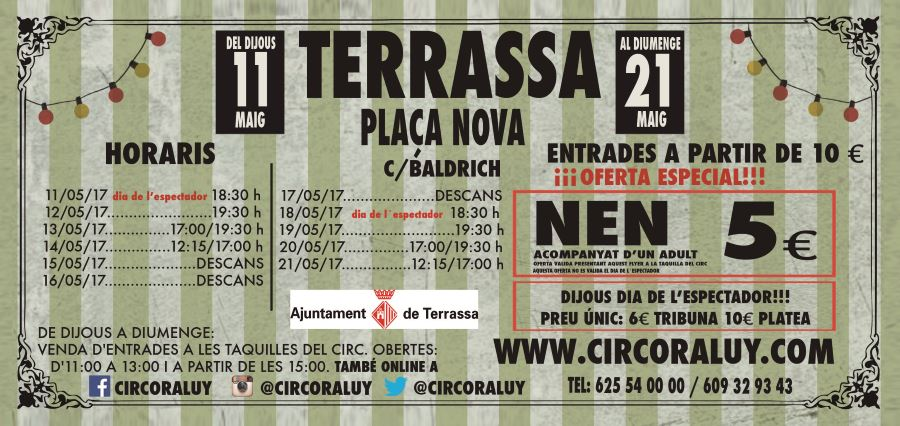 Circo Raluy horarios en Terrassa
