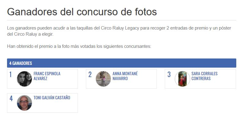 Concurso de fotos Circo Barcelona