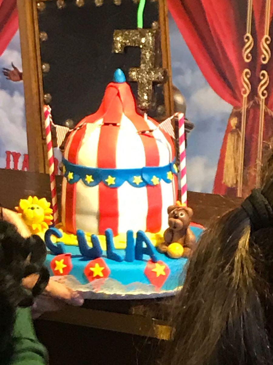 Circo Raluy fiesta de cumpleaños pastel