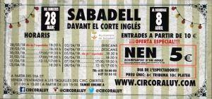 Circo Raluy (del 28 de marzo al 8 de abril en Sabadell ...