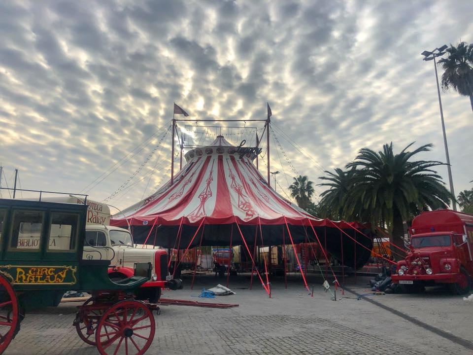 La nueva carpa del Circo Raluy en Barcelona
