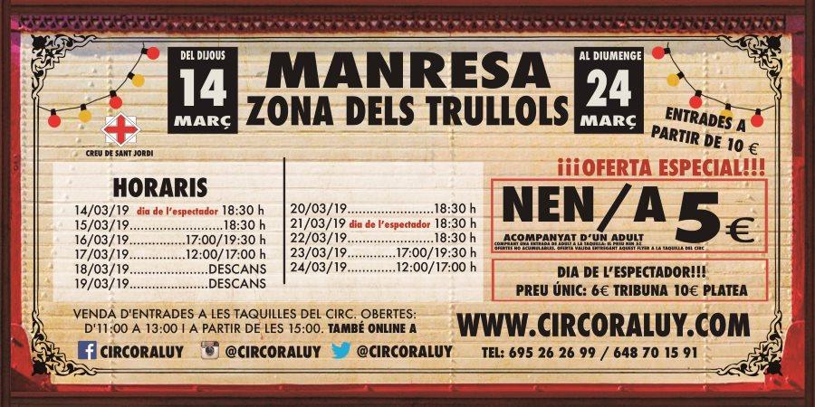 Circo Raluy en Manresa 2019
