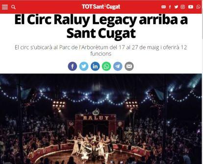 2018-05-04. Tot Sant Cugat. El Circ Raluy Legacy arriba a Sant Cugat