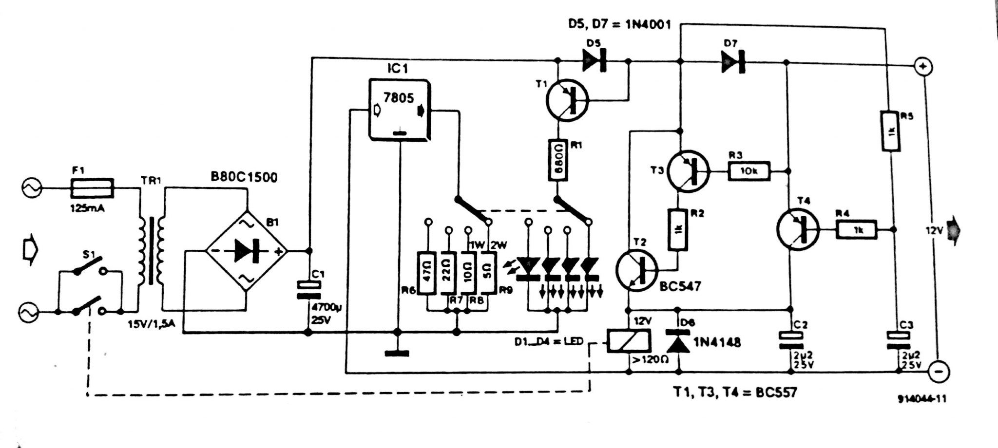 Automatic Battery Charger Circuit Diagram