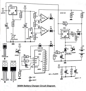 NiMH Battery Charger Circuit Diagram