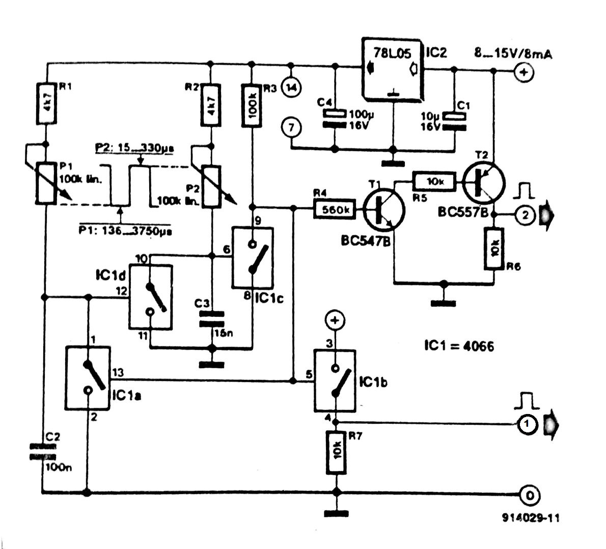 Pulse Generator With One Circuit Diagram