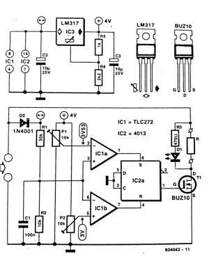 Solar Panel Shunt Regulator Circuit Diagram