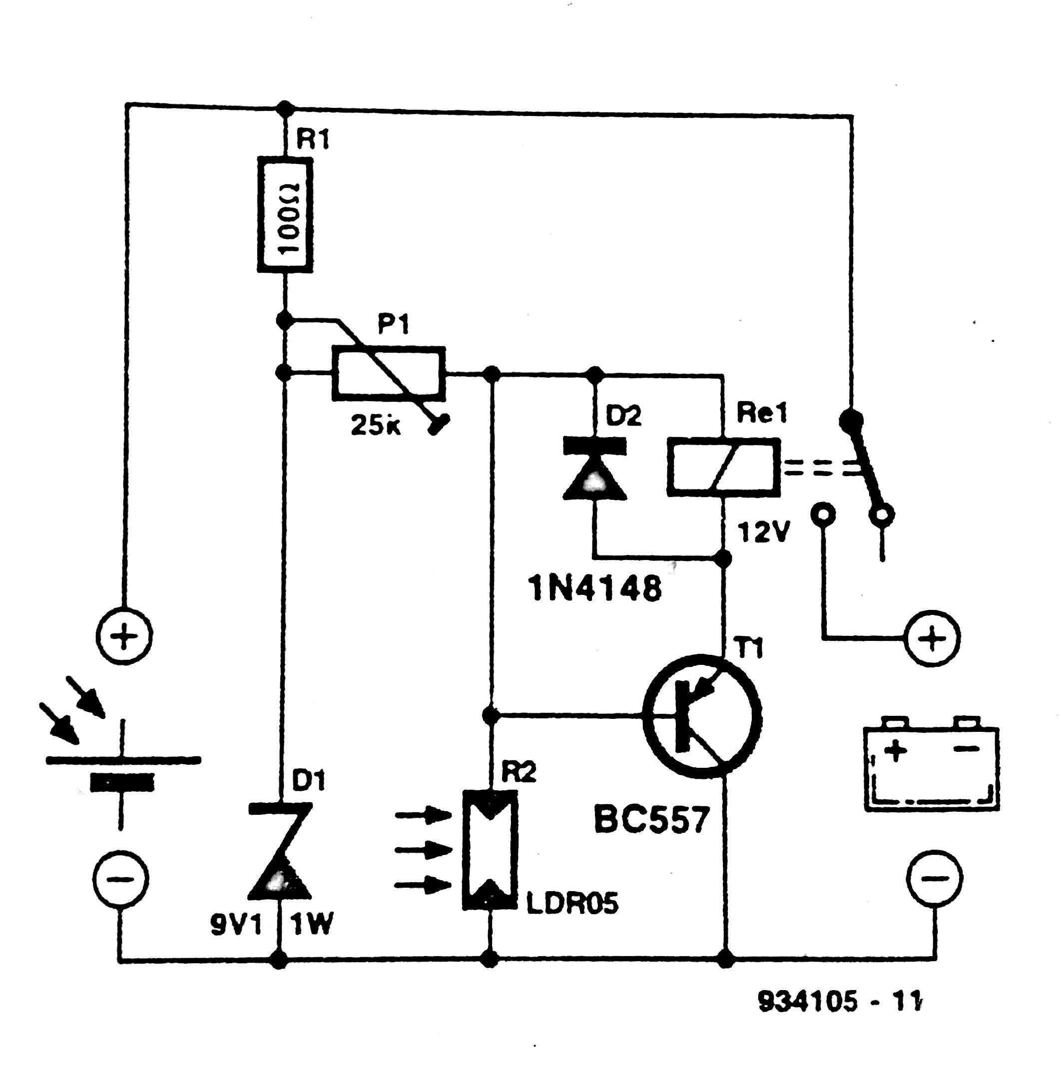 Solar Panel Switch Circuit Diagram