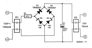 Zener Bridge Rectifier Circuit Diagram