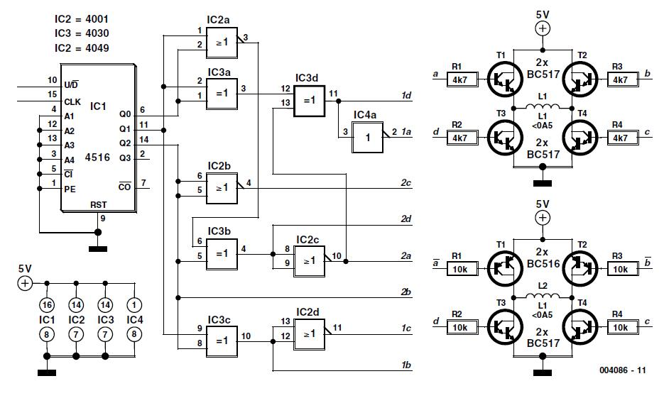 Bipolar Stepper Motor Control Schematic Circuit Diagram
