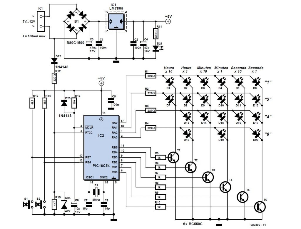 Circuit Diagram Of Digital Clock Using Counters