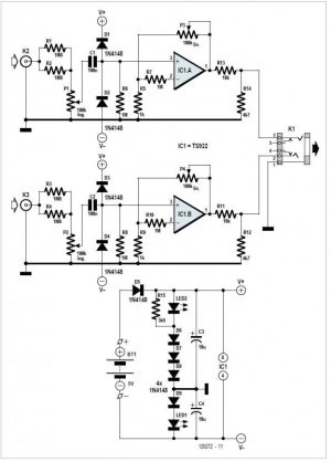 TDA7293 : High Power 120V100W Amplifier Circuit Diagram