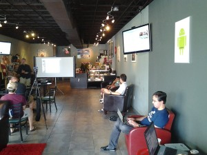 """HackMiami meets at the """"Planet Linux Caffe"""" (Source: HackMiami)"""