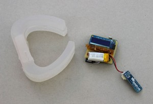 This bracelet-style Amulet developer prototype has an easily accessible board.