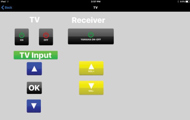 Photo 3 Here are a couple of remote control layouts as they appear on my iPad screen.