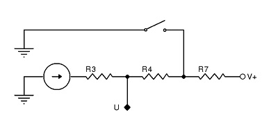 Figure 2 An equivalent circuit establishing hysteresis