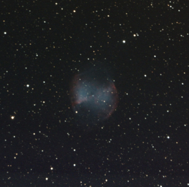 Photo 4 This is Dumbbell Nebular, M27, taken on June 28, 2015. It is the result of stacking of seven frames of 240 s each.