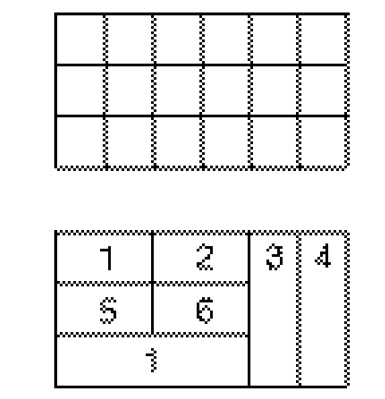 Figure 1 Here you see a 6 × 3 display (a) and the gauge placement (b)