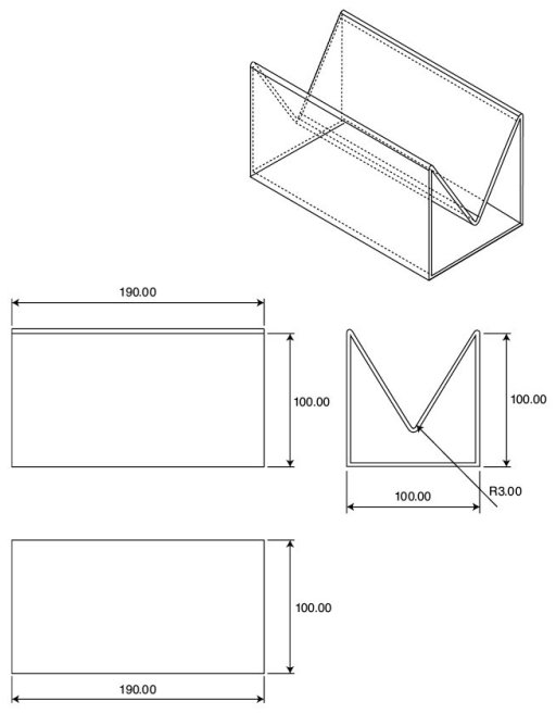 Figure 12 Mechanical drawing of the enclosure