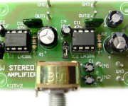 1W Stereo Audio Amplifier using LM386N