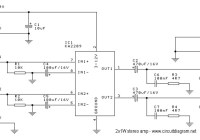 2 x 1W Stereo Amplifier Schematic Electronic