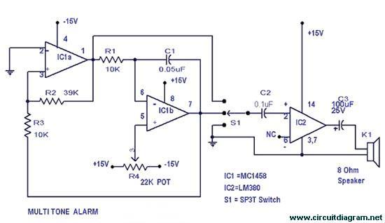 Multitone Alarm circuit electronic