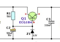 12V to 9V DC Converter Circuit Electronic