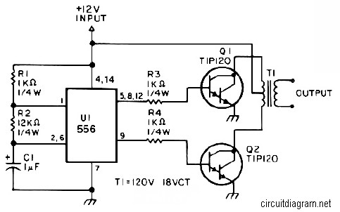 25W Low Power Inverter Circuit