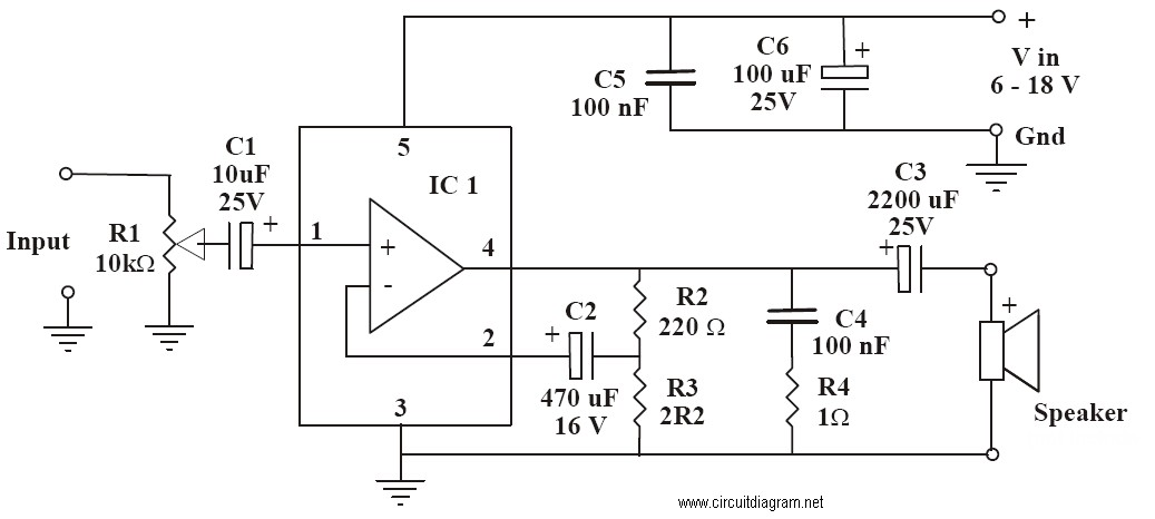 6-10w Audio Amplifier With Ic Tda2002