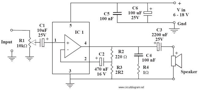 6-10W Power Amplifier Circuit Electronic