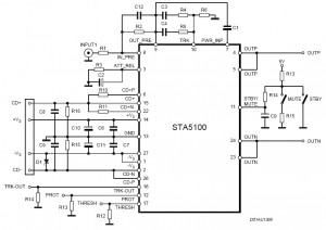140W Power Amplifier Circuit Diagram STA5100