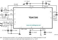 80W Audio Amplifier Circuit based TDA7295